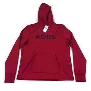Michael Kors Mens Hoodie Side Snap Red